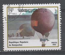 Kampuchea 1983. Scott #416 (U) Hot Air Balloon Ascension, Bicent. Ascension In Artic - Kampuchea