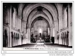 49. Maine  Et Loire :  Montfaucon Sur Moine  .l ´ église . - Montfaucon