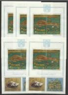 1972 Vaticano Vatican VENEZIA  VENICE 5 FOGLIETTI MNH** 5 Souv. Sheets - Geografia