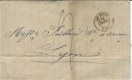 """1844- Lettre De La Nouvelle Orléans Postée Au HAVRE """" Acheminé Par Nestor Albert Havre """" Taxe 19 D En Port Payé - Marcophilie (Lettres)"""