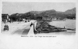13 BOUCHES DU RHONE - MARSEILLE La Plage Vue Du Côté Droit - Endoume, Roucas, Corniche, Beaches