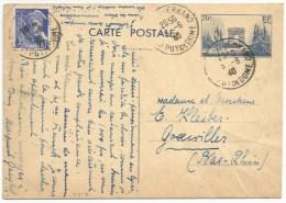 C217 - Entier Postal CLERMONT FERRAND Puy De Dome - Juin 1940 - Pour GOXWILLER Alsace - Type Mercure - - 1921-1960: Modern Period