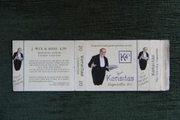 """Paquet De 20 Cigarettes  """" K4's KENSITAS """".LONDON - Empty Cigarettes Boxes"""