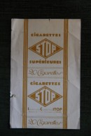 """Paquet De 20 Cigarettes  """" STOP SUPERIEURES  """". ORAN - Etuis à Cigarettes Vides"""