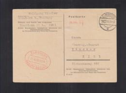 Alliierte Besetzung Behelfsausgabe Elmshorn 1945 Nach Kiel - Bizone