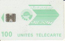 TELECARTE DJIBOUTI 100 UNITES N ROUGE - Dschibuti