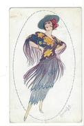 14930 - Illustrateur Signé Ayala - 1920. - Femme Au Chapeau - Art Déco. - Espagne - Illustrateurs & Photographes