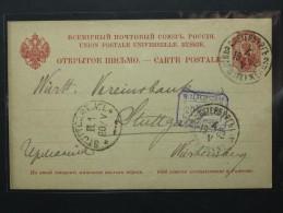 Russie - Russia - Entier Privé Crédit Lyonnais Bank Saint Pétersbourg Pour Stuttgard 1902 (901) - 1857-1916 Imperium