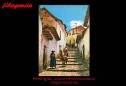 TRASTERO. PERÚ. ENTEROS POSTALES. TARJETA POSTAL 1982. CALLE TÍPICA DEL CUSCO - Peru