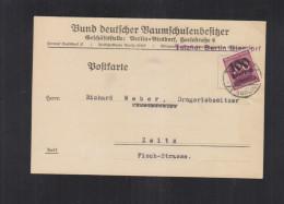 Dt. Reich PK 1923 Bund Deutscher Baumschulbesitzer - Briefe U. Dokumente