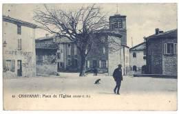 Cpa Chavanay - Place De L'église - France