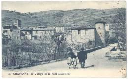 Cpa Chavanay - Le Village Et Le Pont - France