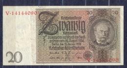 Germany - 1929   - 20  Mark  X/V .P-181a ...R 174a,, VF+ - 50 Reichsmark