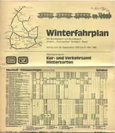 Hinterzarten 1979 - Winterfahrplan Der Bundesbahn Und Bundespost Einschließlich Touring-Bus Stuttgart-Basel - Faltblatt - Europa