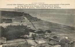 CARTE POSTALE : CAP FERRET, PAR ARCACHON . LA COTE D'ARGENT . VUE GENERALE PANORAMIQUE D'UNE PARTIE DU CAP FERRET . - Frankreich