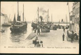 Le Palais - L'Avant-Port - Départ Des  Vapeurs Por Quiberon - Belle Ile En Mer