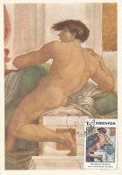 D24154 CARTE MAXIMUM CARD 1972 GRENADA - NUDE BY MICHELANGELO CP ORIGINAL - Nus