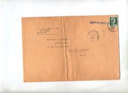 Lettre Cachet Marseille Sur Muller - Marcophilie (Lettres)
