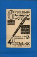 UBLICITES - ECRITURE - Pub Issue D'une Revue De 1936 Collée Sur Feuillet - Publicités