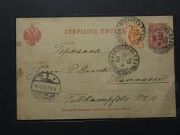 Russie - Russia - Carte Postale-Entier Postal - Smolensk - Hannover (907) - 1857-1916 Empire