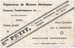 VP5079 - Buvard - Réparations DeMoteurs Electriques Ets PETIT à ANZIN - Electricidad & Gas