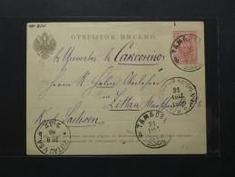Russie - Russia - Carte Postale-Entier Postal - Tambov - Zittau 1886 (912) - 1857-1916 Empire
