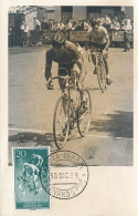 D24166 CARTE MAXIMUM CARD 1959 SPANISH GUINEE - CYCLING RACING CP PHOTOCARD - Cycling