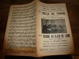 1947  Musique Par Maison Emery ---> Valses Accordéon-violon : BELLE DE VIENNE, VIENNE AU CLAIR DE LUNE - Scores & Partitions
