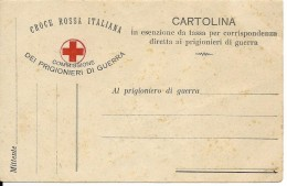 Intero Postale Cartolina Croce Rossa Italiana Commissione Dei Prigionieri Di Guerra (nuovo) - Italia
