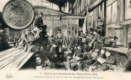 GREVE DES CHEMINOTS DE L OUEST(PARIS GARE SAINT LAZARE) - Strikes