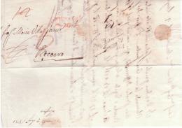 Lettera Da Mantova A Recoaro 1801 Con Qualche Mancanza Di Carta   B258 - 1. ...-1850 Prephilately