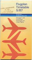 Flughafen Frankfurt Am Main - Flugplan Timetable 5/87 - Pasagier- Und Frachtflüge - Hotelverzeichnis - News - S- Und U-B - Europa