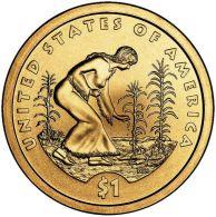 1 $ Dollaro Nativi Dollar Sacagawea 2009 PHILADELPHIA Serie Native Dollar USA - Émissions Fédérales