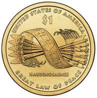 1 $ Dollaro Nativi Dollar Sacagawea 2010 DENVER Serie Native Dollar USA - Émissions Fédérales