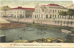 Figueira Da Foz - Doca E Theatro Principe D. Carlos (falta Papel Num Canto) - Coimbra