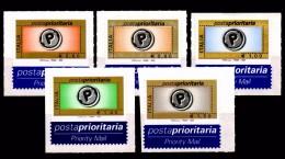 Italia Repubblica 2004 Posta Prioritaria Prima I° Tiratura Serigrafico  € 0,60 0,80 1,00 1,40 1,50 Con Appendice MNH** - 6. 1946-.. Republic