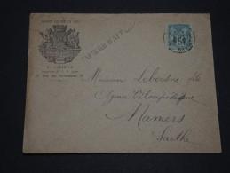 FRANCE – Env Avec Jolie Entête Commerciale - Détaillons Collection - A Voir - N° 17296 - 1876-1898 Sage (Type II)