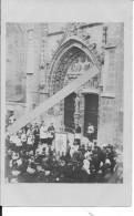 Damartin En Goële Arrivée D'une Procession Devant L'église 1 Carte Photo 1914-1918 14-18 Ww1 Wk1 - War, Military