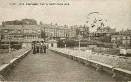 Royaume-Uni - Angleterre - Isle Of Wight - Sandown - The Slipway From Pier - état - Sandown