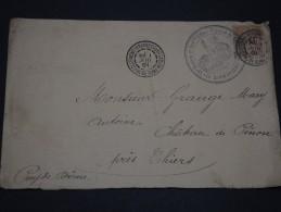 FRANCHISE MILITAIRE – Env De Clermont-Ferrand Pour Le Chateau De Pinon Avec Le FM N° 1 - 1901 - A Voir – N° - Franchise Militaire (timbres)