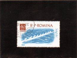 B - 1962 Romania - Otto Con - Canottaggio