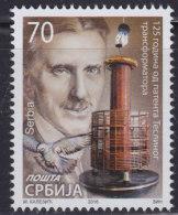Serbia 2016 125 Years Of The Tesla´s Transformator Patent (125 Anni Da Quando Brevetto Trasformatore Di Tesla), MNH (**) - Serbia