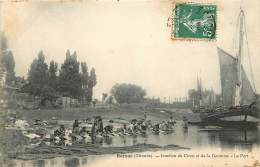 CARTE POSTALE : BARSAC . JONCTION DU CIRON ET DE LA GARONNE . LE PORT . - Francia