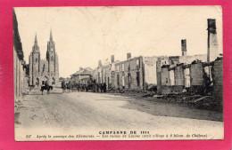 Guerre 14-18, Après Le Passage Des Allemands, Les Ruines De Lépine, Animée, 1915 - Guerre 1914-18
