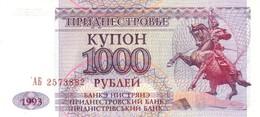 TRANSNISTRIA 1000 COUPON 1993 P-23 UNC [ PMR125a ] - Moldova