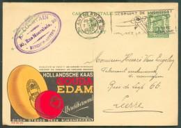 FROMAGE - KAAS - CHEESE-  Belgique E.P. Carte Pubblibel 35  Centimes Lion (N°210 - HOLLANDISCHE KAAS GOUDA EDAM) Obl. Fl - Alimentation