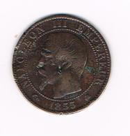 °°°  FRANKRIJK  5 CENTIMES  1855 K - France