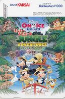 Carte Prépayée Japon - DISNEY ON ICE - TARZAN ELEPHANT HIPPOPOTAME HIPPO - Japan Prepaid Rainbow Card - Disney