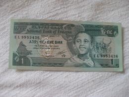 Ethiopie: 1 Birr - Billet De 1989 - Ethiopie