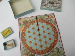 """Jeu Ancien/""""Jeu Des Chasseurs """"/Jeu De Société /Joli Tapis Carton, Boite De Jetons Et Régle Du Jeu/ Vers 1880-1900 JE150 - Group Games, Parlour Games"""